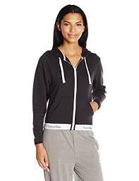 calvin klein women u0027s modern cotton full zip hoodie top at amazon