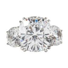 10 karat diamond ring classic faux white cushion cut 10 carat diamond white gold ring at