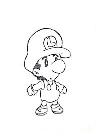 picture luigi mario brothers kids coloring