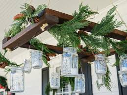 Homemade Outdoor Chandelier by Make A Holiday Inspired Mason Jar Chandelier Hgtv