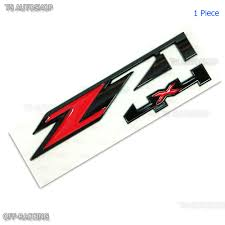 holden logo z71 4x4 3d red black abs stick emblem for chevrolet colorado tahoe