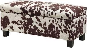 leopard print ottoman bench fabric storage bench beautiful