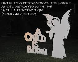 Outdoor Lighted Christmas Angels by Amazon Com Life Size Angel For Mynativity Outdoor Nativity Set 3