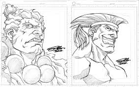 sdcc sketches akuma and adon by ngboy on deviantart