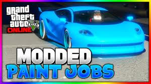 gta 5 online modded paint jobs neon blue slime green