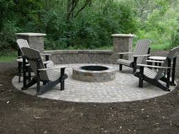 brick patio designs with fire pit unique hardscape design