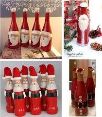 wonderful diy cute christmas bottle santa coke painted glass