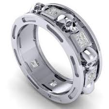 skull wedding ring sets custom wedding rings custom wedding bands for men and women