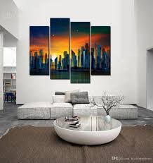 home decor prints modern art wall decor painting sunset city abstract canvas