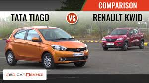 kwid renault 2016 tata tiago vs renault kwid comparison review youtube