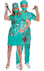 Joker Nurse Halloween Costume Bloody Nurse U0026 Surgeon Combination Jokers Masquerade