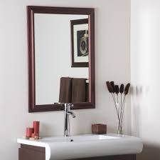 bathroom large white framed bathroom mirror ideas framed