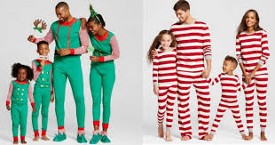 target score four sets of matching family pajamas for