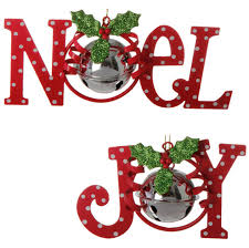 noel and ornaments with bell set of 2 6 inches shelley b