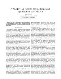 a toolbox for modeling and optimization in matlab