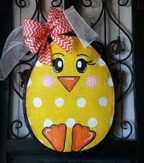 Easter Door Decorations Pinterest by Easter Decorations Hand Painted Burlap Door By Connierisleycrafts