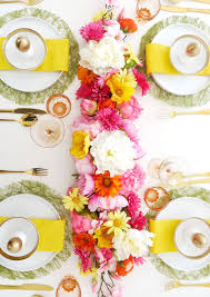 diy floral table runner party ideas party printables