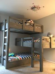 Free Loft Bed Plans Pdf by Bunk Beds Full Size Loft Bed 3 Tier Bunk Bed Plans Triple Bunk