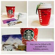gift idea diy coffee cup ornament gift card