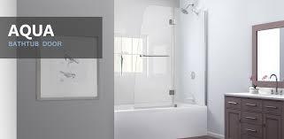 hinged shower bathtub enclosures wayfair glass pivot door