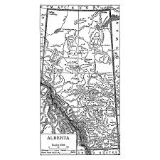 Map Alberta Canada by Canada Alberta Instant Download Pre World War I Map 1910