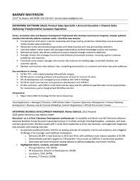objective in resume for it resumes for sales executives free resume example and writing enterprise software account manager sample resume barney mayerson