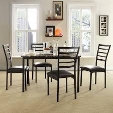 homesullivan miona 5 piece black dining set 405038 485pc the