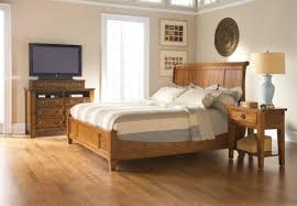 Broyhill Furniture Bedroom Sets by King Size Headboard In Classic Wooden Bedstead Has Gray Bedcover