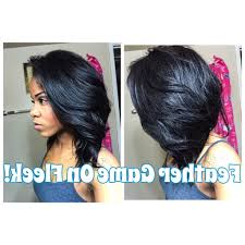 which hair is better for sew in bob sew in layered bob hairstyles layered feather hair tutorial best