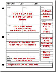 printable daily planner the top six strategy for success oooooh