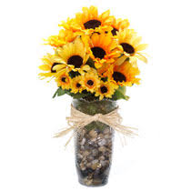 sunflower centerpiece bulk floral craft idea sunflower centerpiece at dollartree