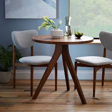 west elm round dining table tripod table west elm