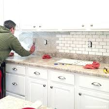 how to install tile backsplash in kitchen install glass tile backsplash kitchen easy way to around