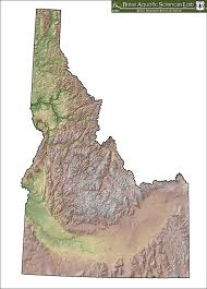 Us Relief Map Maps Geographic Information System Gis At The Boise Aquatic