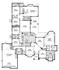 Mediterranean Floor Plan Floor Plans Aflfpw02368 1 Story Mediterranean Home With 5