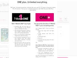 simple plans t mobile u0027one u0027 plan is not the simple unified plan that was