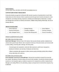 Branch Manager Resume Examples by Manager Resume Sample Templates 43 Free Word Pdf Documents