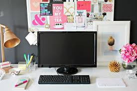 project office inspiration board and desk update shannon claire