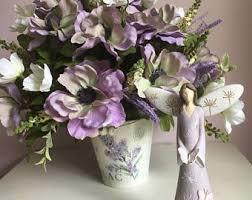purple silk flowers etsy