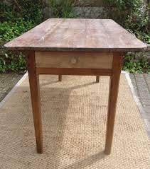 table de cuisine ancienne bois peint et patiné avec tiroir