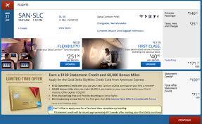 delta 60k 100 credit via fake booking churning