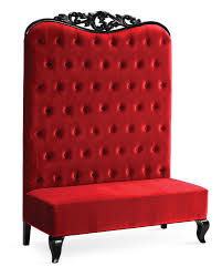 High Back Chairs by Chaise High Back Sofa Double High Back Chair Adonis Ii Red