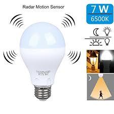 light sensor light bulbs motion sensor light bulb 7w smart bulb dusk to dawn led motion