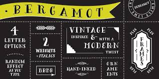 bergamot fonts by emily lime design fontspring