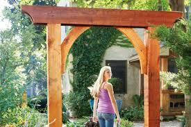 how to build a garden arch australian handyman magazine