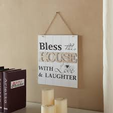 danya b inspirational bless this house with and laughter sign