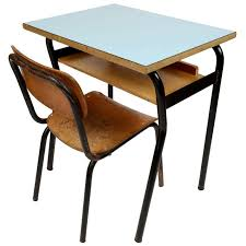 Small Desk With Chair Small School Desk And Chair Italy 1950s At 1stdibs