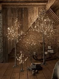 grey indoor outdoor light up trees