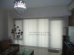 Cloth Vertical Blinds Fabric Vertical Blinds For Elegant Penthouse Apartment Unit