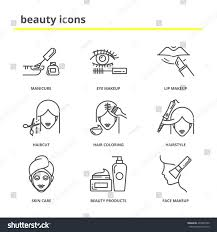 beauty vector icons set manicure eye stock vector 435837250